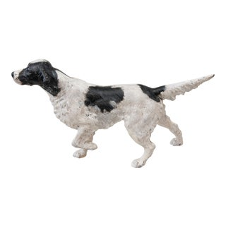 Early Hubley Large Cast Iron Sporting Dog Setter Doorstop For Sale