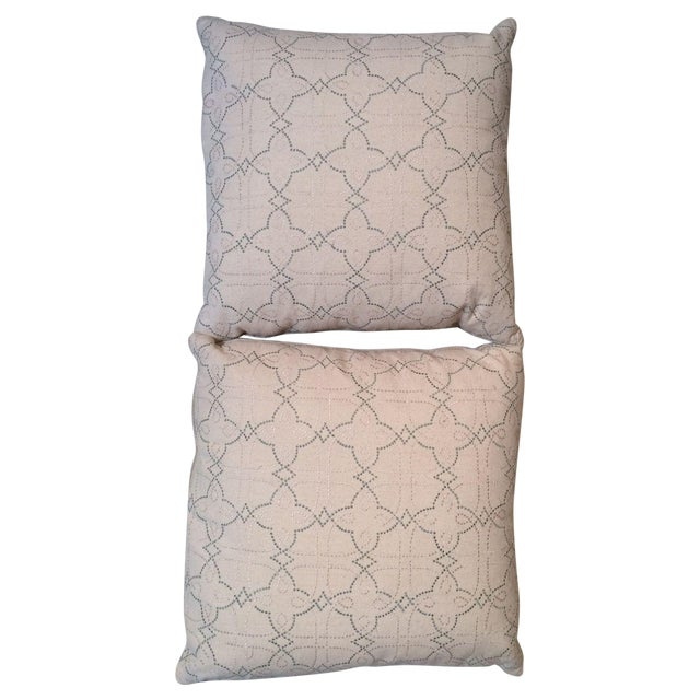 """Country Cloth"" Linen Throw Pillows - A Pair - Image 1 of 5"