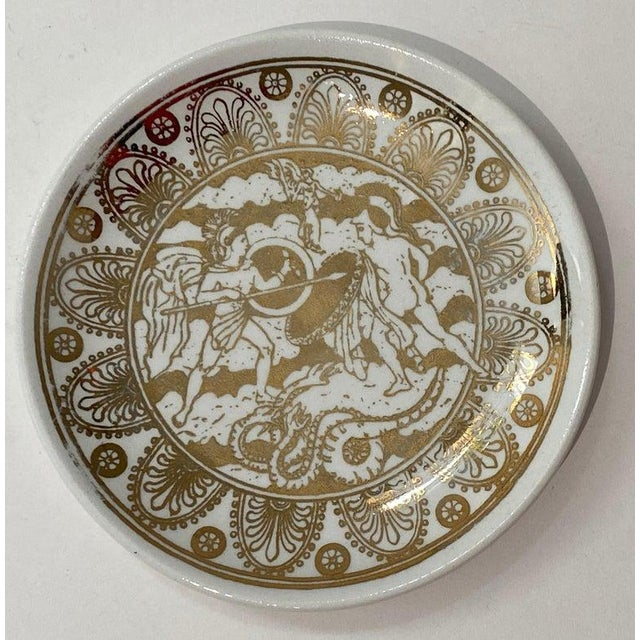 """Mid-Century Modern Mid-Century Modern Fornasetti """"Mitologia"""" Coasters - Set of 10 (8 Designs) For Sale - Image 3 of 13"""