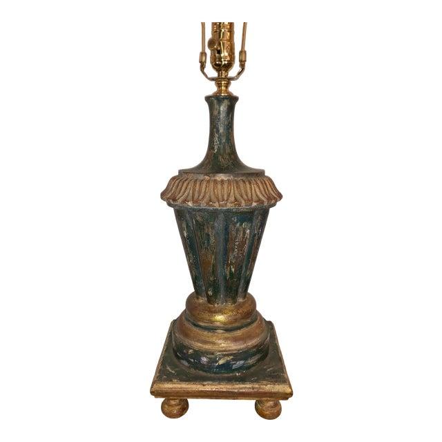 Paul Ferrante Italian Giltwood Urn Form Table Lamp For Sale