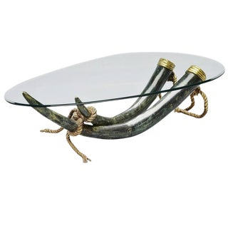 Italo Valenti Bronze Elephant Tusk Table, Spain, 1975 For Sale