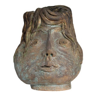 Brutalist Mid Century Modern Pottery Vase Picasso Attr. For Sale