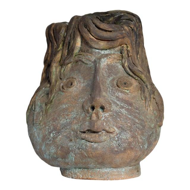 Brutalist Mid-Century Modern Pottery Vase Picasso Attr. For Sale