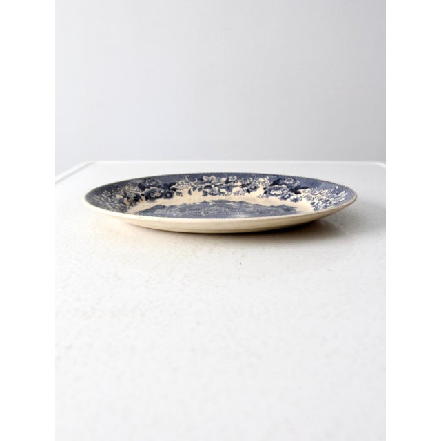 """This is a Thomas Hughes & Son ironstone platter circa 1930. The classic ironstone serving plate features the """"Avon..."""