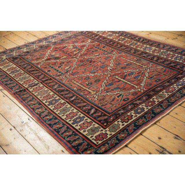 """Textile Vintage Kurdish Square Carpet - 5'5"""" X 6'2"""" For Sale - Image 7 of 12"""