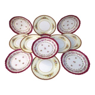Vintage Roses Plates - Set of 12 For Sale