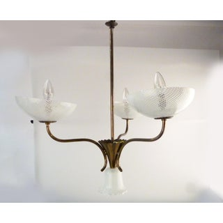 Seguso Filigreed Three-Arm Chandelier Preview
