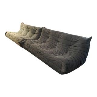 Original 1980s Ligne Roset 'Togo' Five Pieces Sofas Designed by Michel Ducaroy