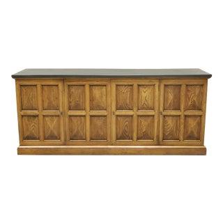 Henredon Mediterranean Style Slate Top Sideboard Credenza For Sale