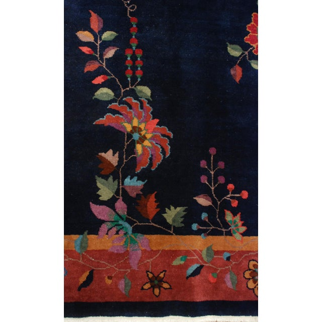 """Early 20th Century Chinese Art Deco Rug - 73"""" x 105"""" For Sale - Image 5 of 5"""