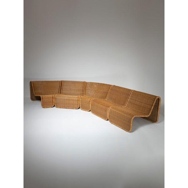 Large Wicker Set by Tito Agnoli for Bonacina For Sale - Image 10 of 10