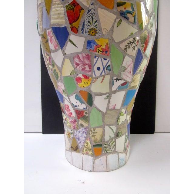 Large Handmade Mosaic Floor Vase Urn - Image 11 of 11