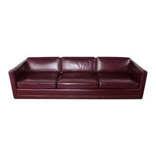 Sofa by Ward Bennett in Original Leather