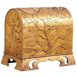 Period Art Nouveau Gilded Wood Coffer