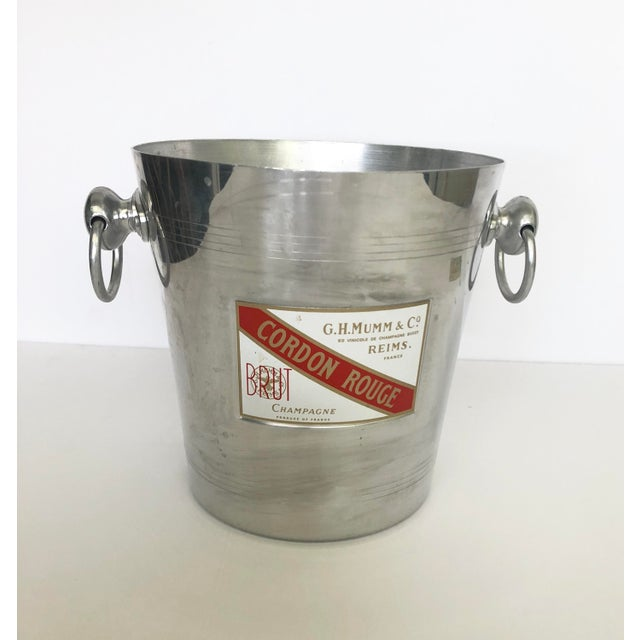 Vintage Mumm & Co. Cordon Rouge French Champagne Ice Bucket For Sale - Image 9 of 9
