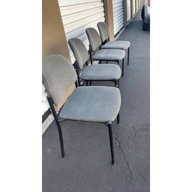 Modern Comet Armless Stacking Chairs - Set of 4 For Sale - Image 3 of 7