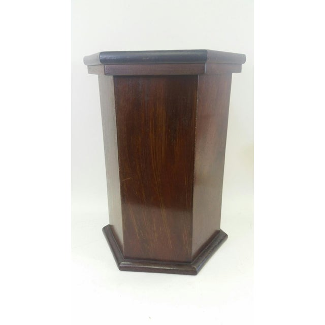 Late 19th Century Late 19th Century Traditional Mahogany Hexagonal Side-Table For Sale - Image 5 of 5