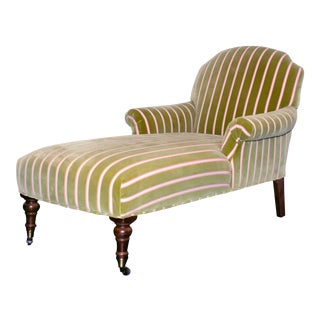 Tight Back Chaise With Wood Legs For Sale