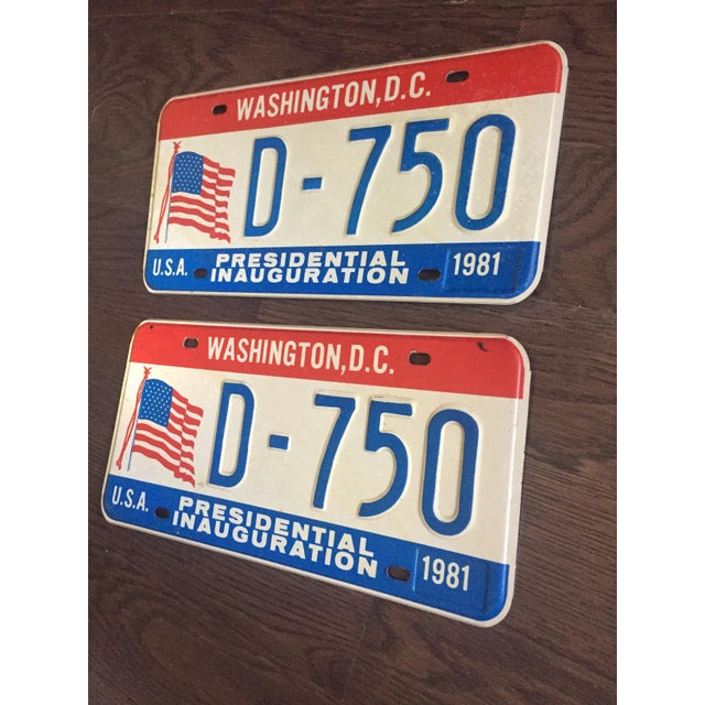 Presidential Inauguration License Plates 1981 - A Pair - Image 3 of 6