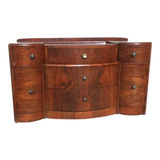 1940s Antique Art Deco Dresser Vanity Dressing Table For Sale