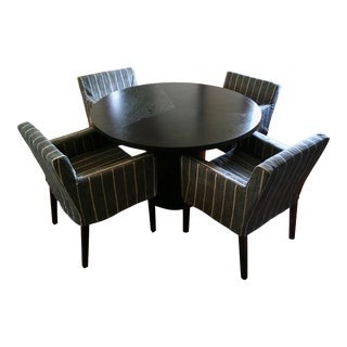 Danish Modern Skovby Sm32 Dining Table With Custom Upholstered Chairs Set