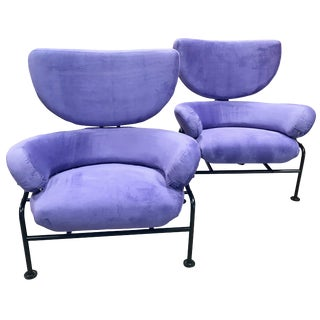 """Franco Albini Pair of """"Tre Pezzi"""" Armchairs, Italy, 1960s For Sale"""