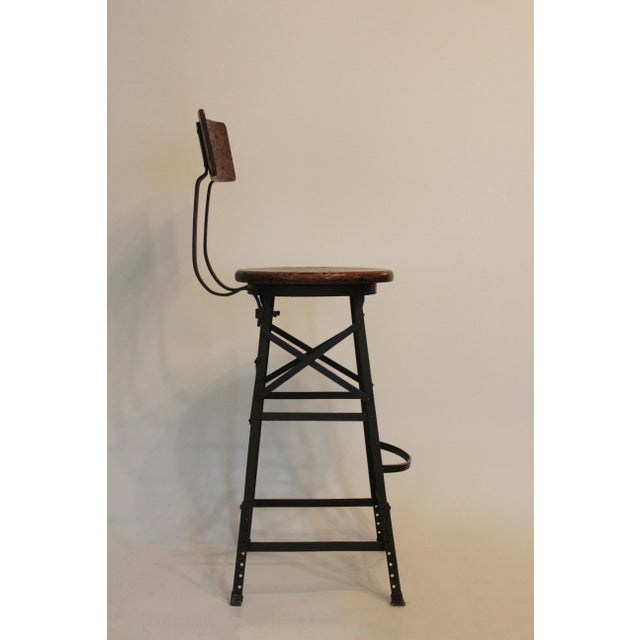 1900s Vintage Industrial Bar Stools- Set of 3 For Sale - Image 4 of 5