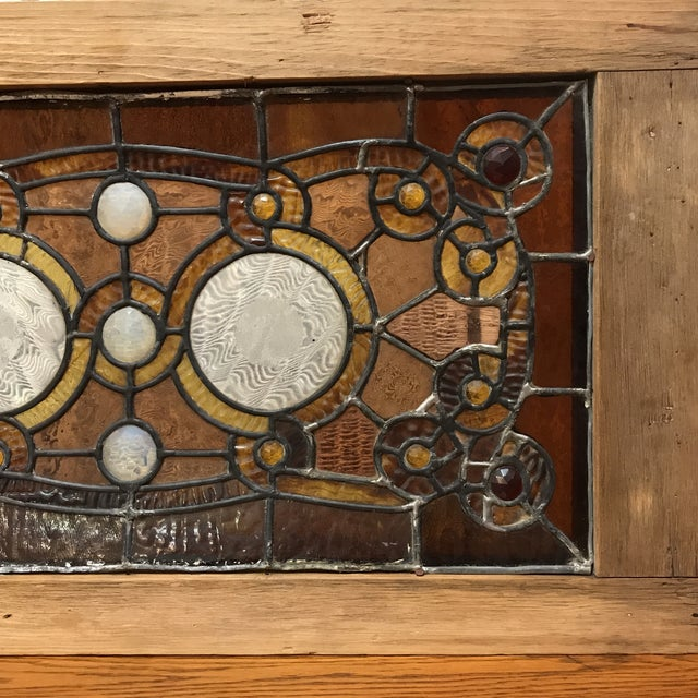 Antique Stained Glass Window - Image 2 of 7