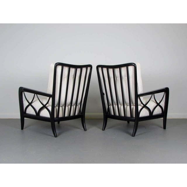 1950s Paolo Buffa Style Lacquered Italian Lounge Chairs - A Pair - Image 7 of 8