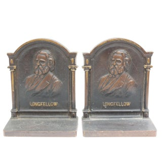 Cast Iron Longfellow Bookends - a Pair Preview