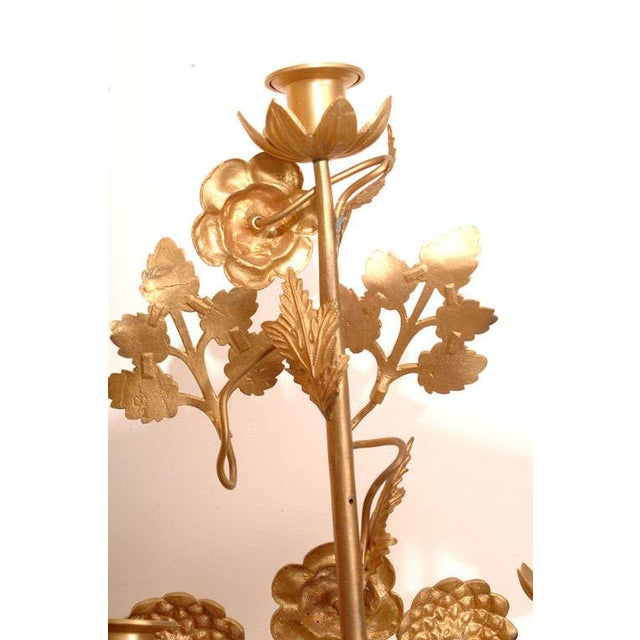 Mid 19th Century Gilt Bronze Candelabras - a Pair For Sale - Image 5 of 10