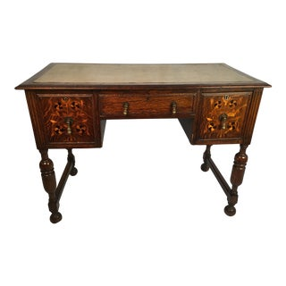 19th Century English Traditional Inlaid Writing Desk For Sale