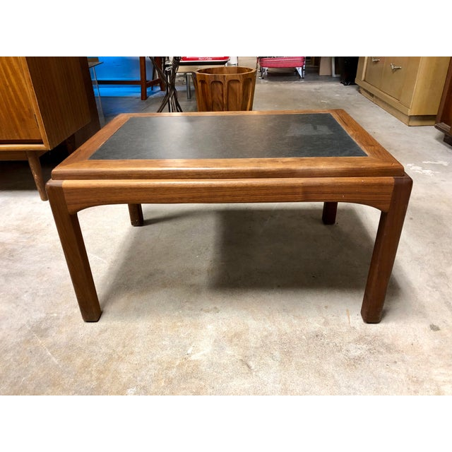 Mid Century Modern Walnut and Black Formica Side Table For Sale In Charleston - Image 6 of 6