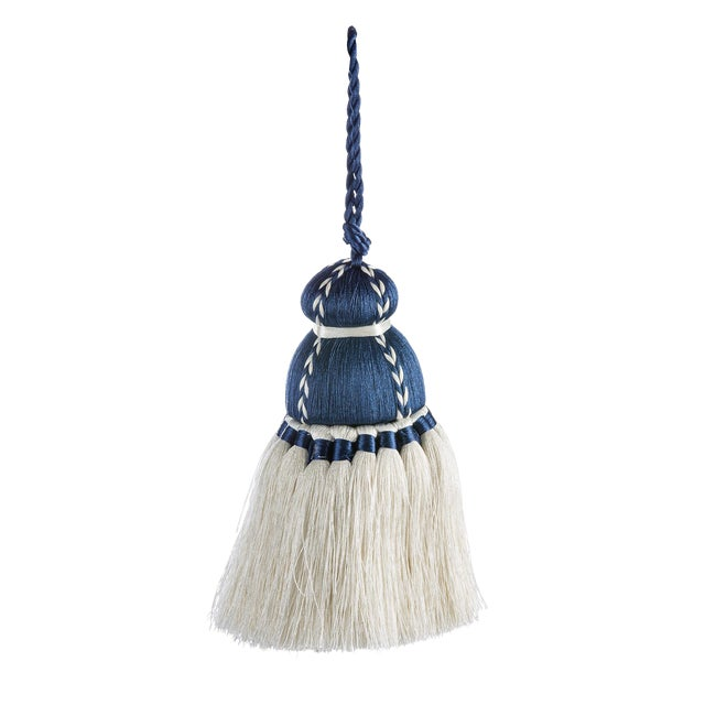 Navy & White Tassel, Small For Sale