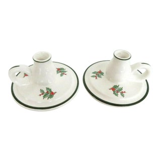 Cuthbertson Original Christmas Tree Chamber Candle Stick Holders a Pair 1160b For Sale