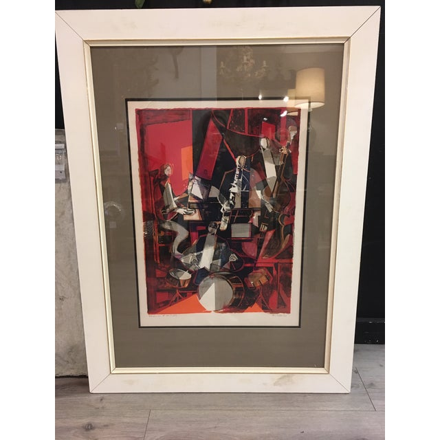 Jazz Players Litho Signed Abstract For Sale In New York - Image 6 of 6