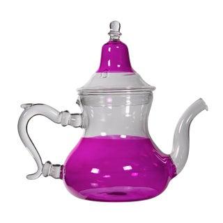Moroccan Pink Glass Teapot