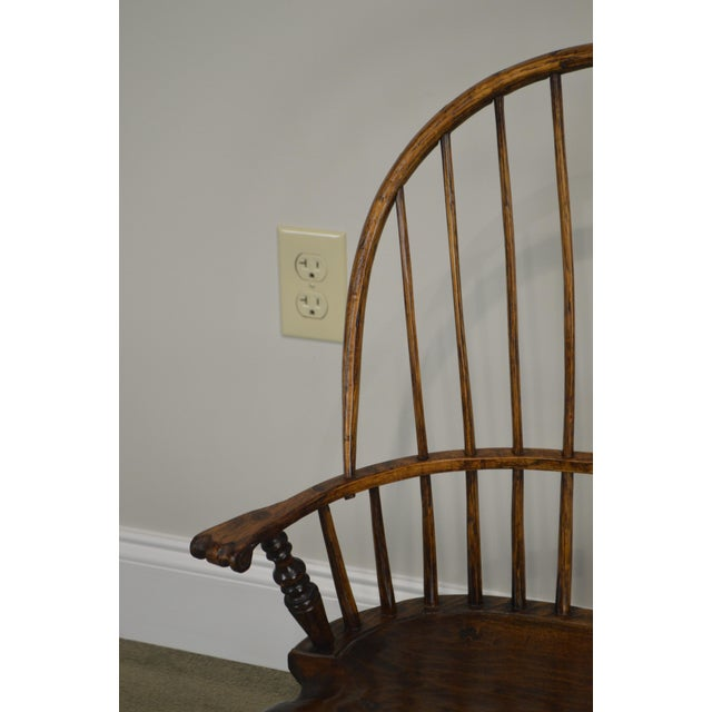 1990s Windsor Style Hand Crafted Miniature Childs Settee by K. Malone (18th Century Reproduction) For Sale - Image 5 of 12