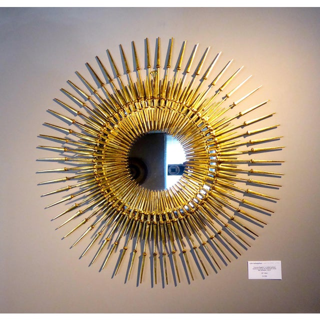 """Corona Regalis"" a contemporary wall sculpture/mirror by Del Williams For Sale In Palm Springs - Image 6 of 6"