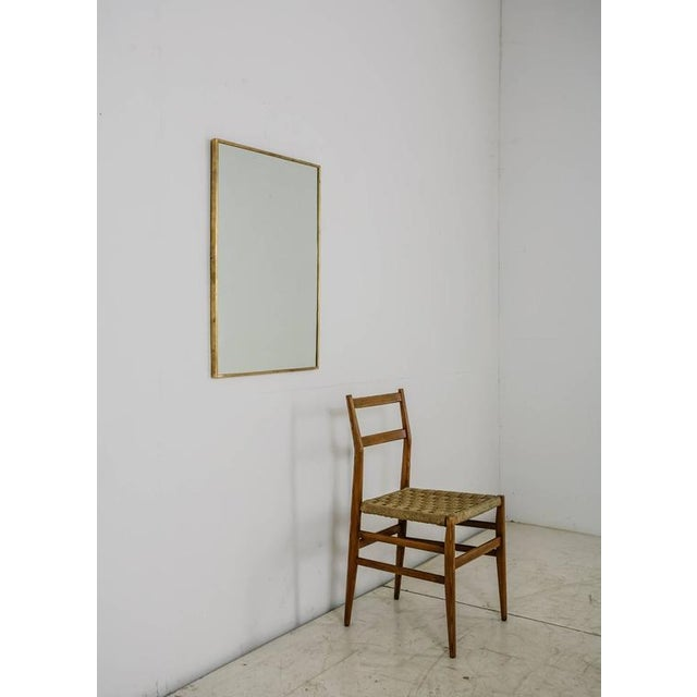 Large Rectangular Brass Wall Mirror, Italy, 1950s - Image 1 of 2