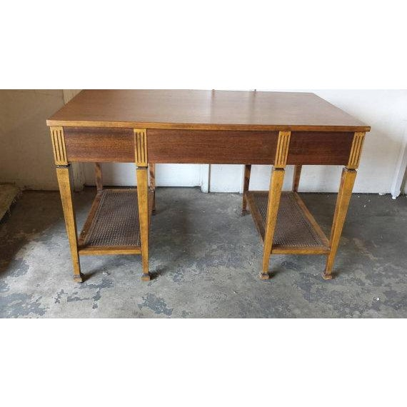 Mid Century Two Tier Desk Table - Image 2 of 5