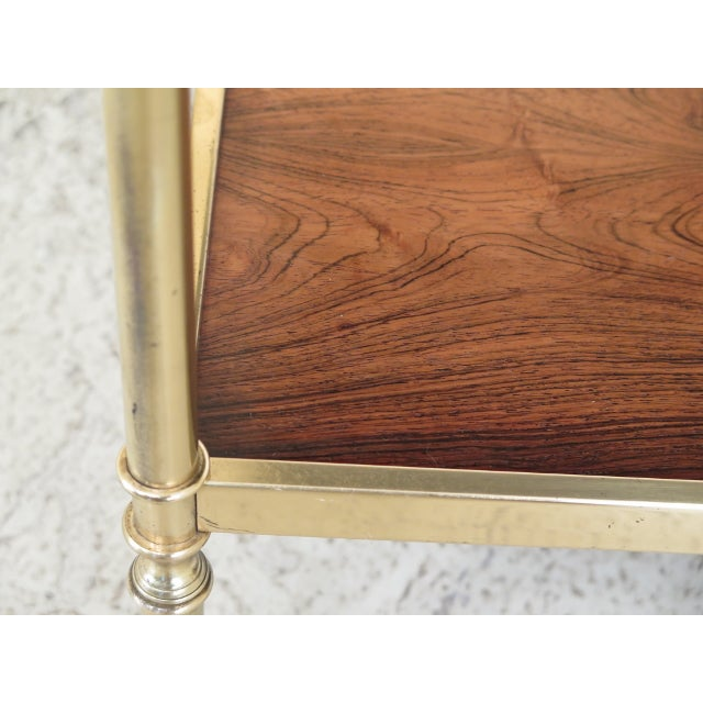Gold 1990s Vintage Baker Rosewood & Brass Directoire Occasional Table For Sale - Image 8 of 11