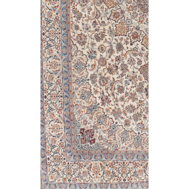 "Pasargad N Y Persian Nain Silk & Wool Rug - 6'9"" X 11' - Image 2 of 2"