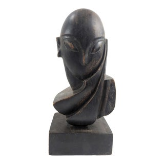 Carved Wood Abstract Sculpture After Constantin Brancusi For Sale