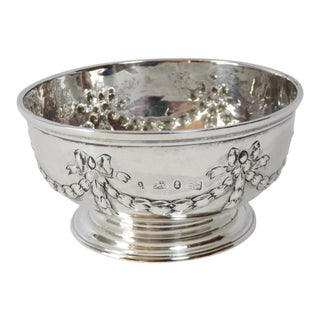 English Georgian Sterling Silver Serving Bowl Circa 1834 For Sale