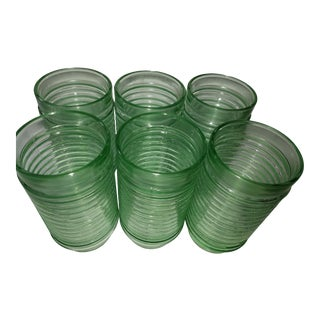 Hocking Glass Company Green Glass Depression Glass - Set of 6 For Sale