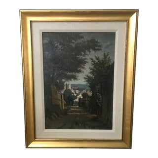 Antique 1870 French Oil Painting on Panel For Sale