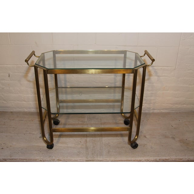 The most glamorous brass bar cart from France, 1940s.....what could be better? We discovered this piece in the markets of...