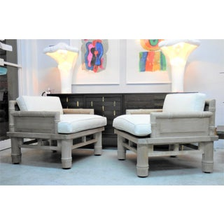McGuire Solid Naturally Patinated Teak Lounge Chairs Preview