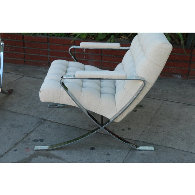 Steel Chrome Lounge Chairs inspired by Milo Baughman For Sale - Image 5 of 13